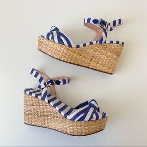 NWT Kate Spade Basket weave wedge heel sandal
